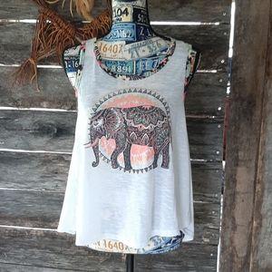 Open back tribal elephant tank